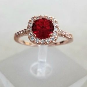 Jewelry - 18k Over Sterling Ruby Ring